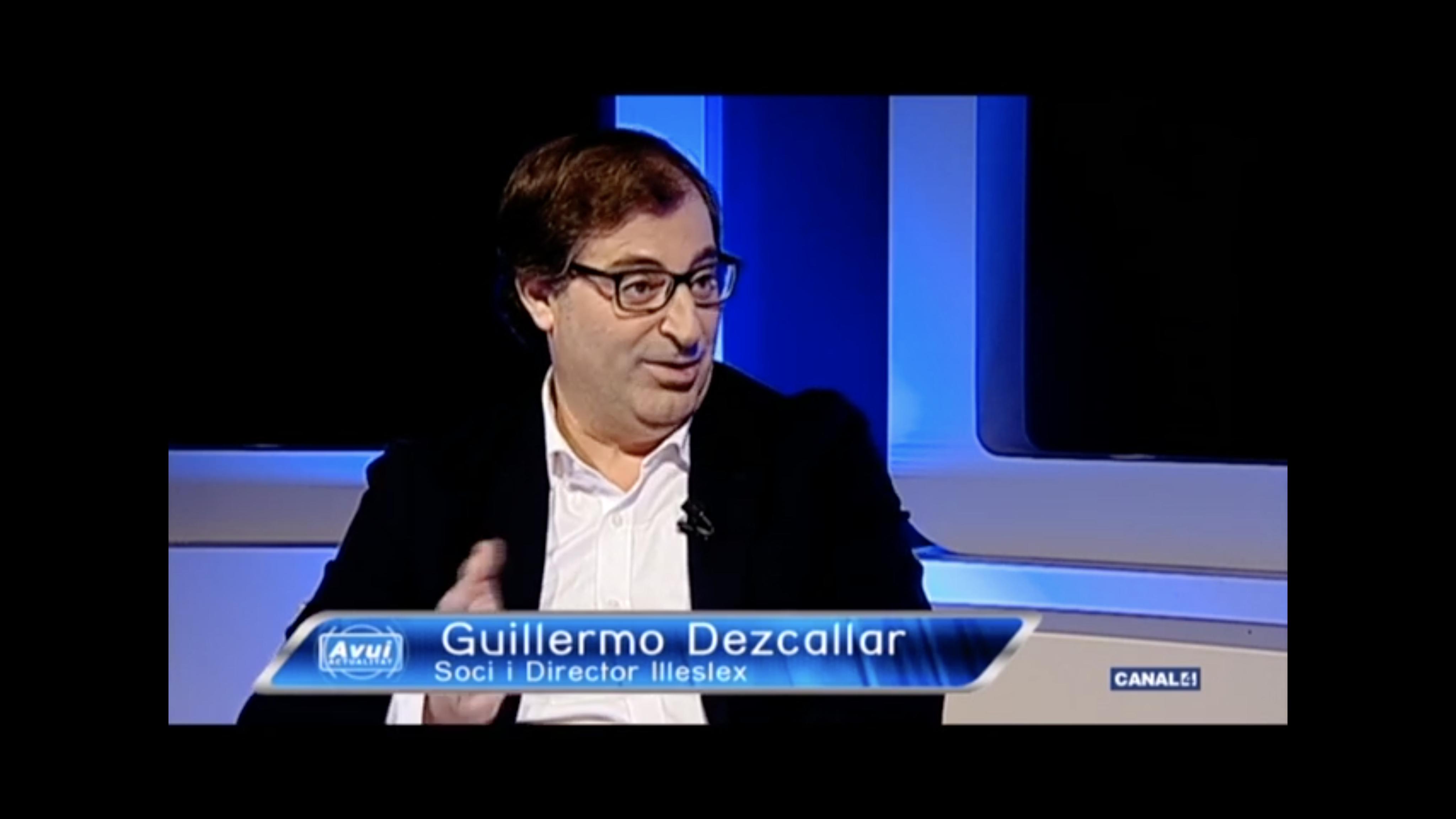 Guillermo Dezcallar, entrevistado en Avui Actualitat de Canal4 TV