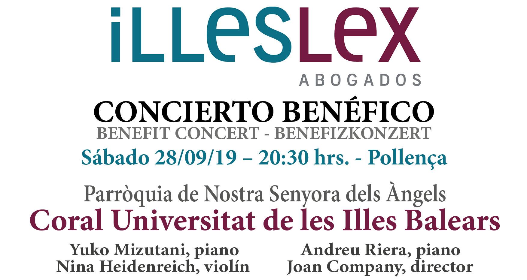Illeslex Abogados organiza un concierto benéfico en favor de  Cáritas y Montesión Solidaria
