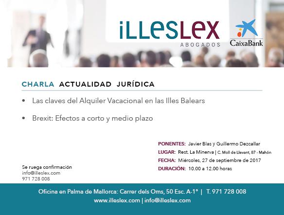 Charla Actualidad Jurídica en Menorca