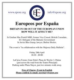 Conferencia sobre Reino Unido, dentro o fuera de la Unión Europea