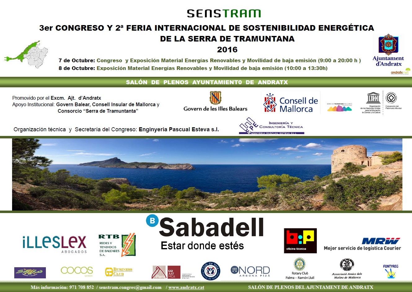 III Congreso Internacional de Sostenibilidad Energética Serra de Tramuntana