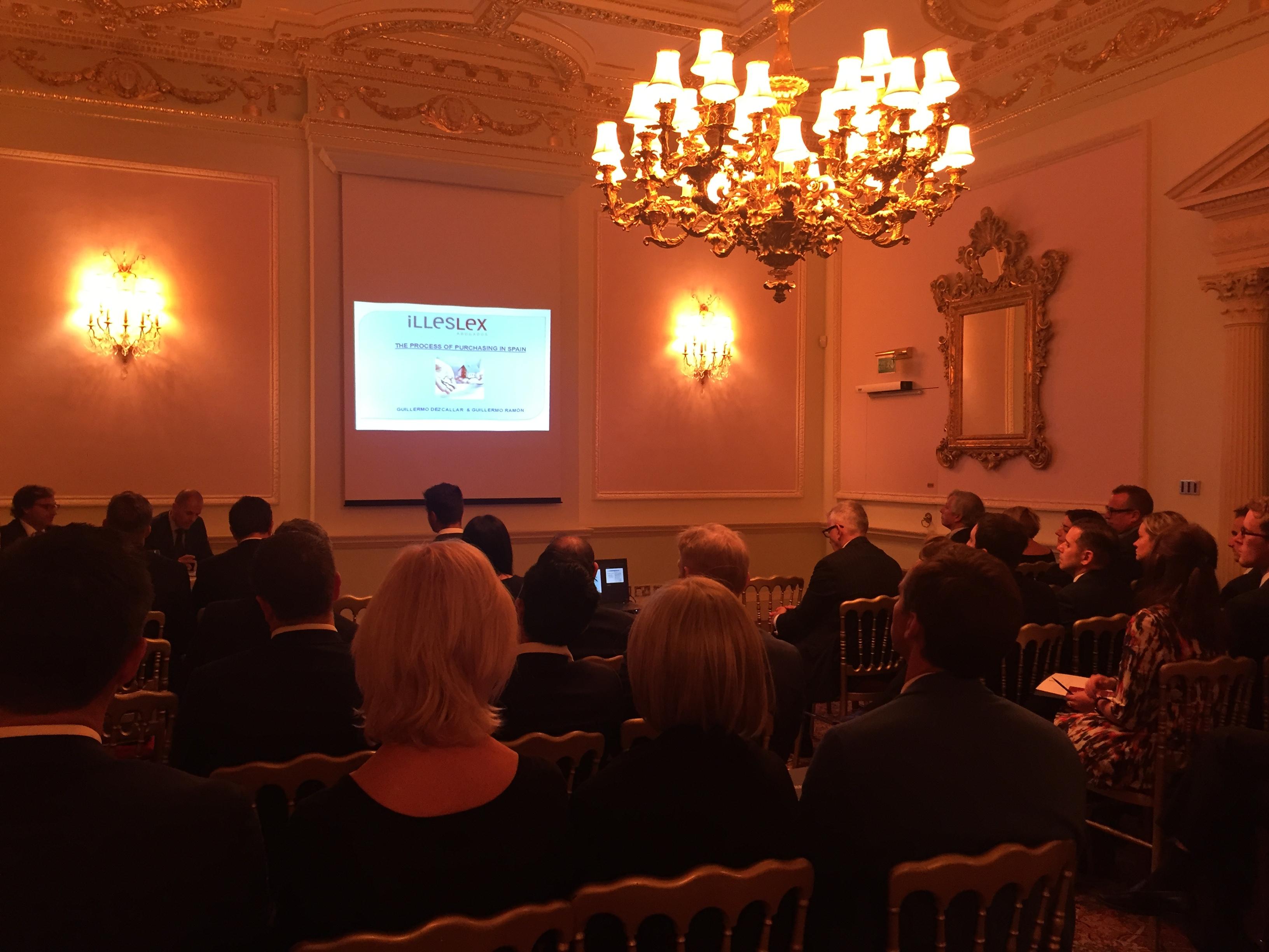 Conferencia de Illeslex en el Hotel Ritz de Londres