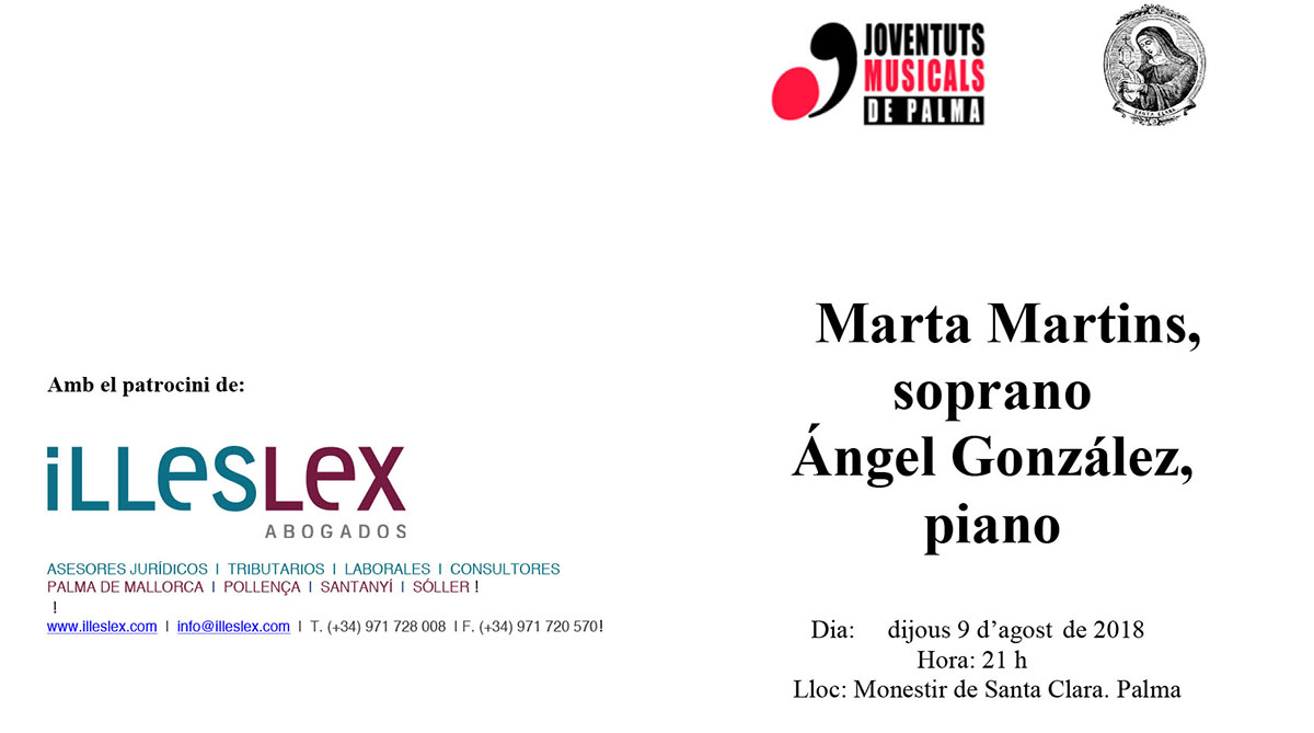 Illeslex patrocina el concierto de música clásica de las Fiestas de Santa Clara